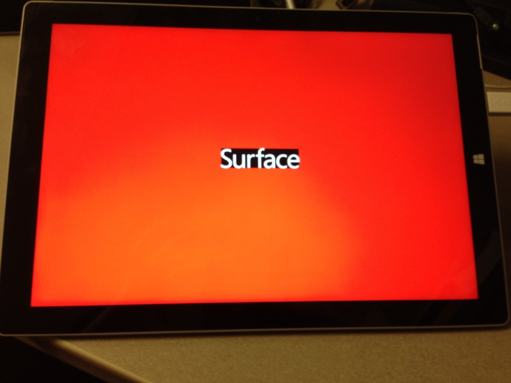 Surface Pro 3 Red Boot Screen The Bearded Geek