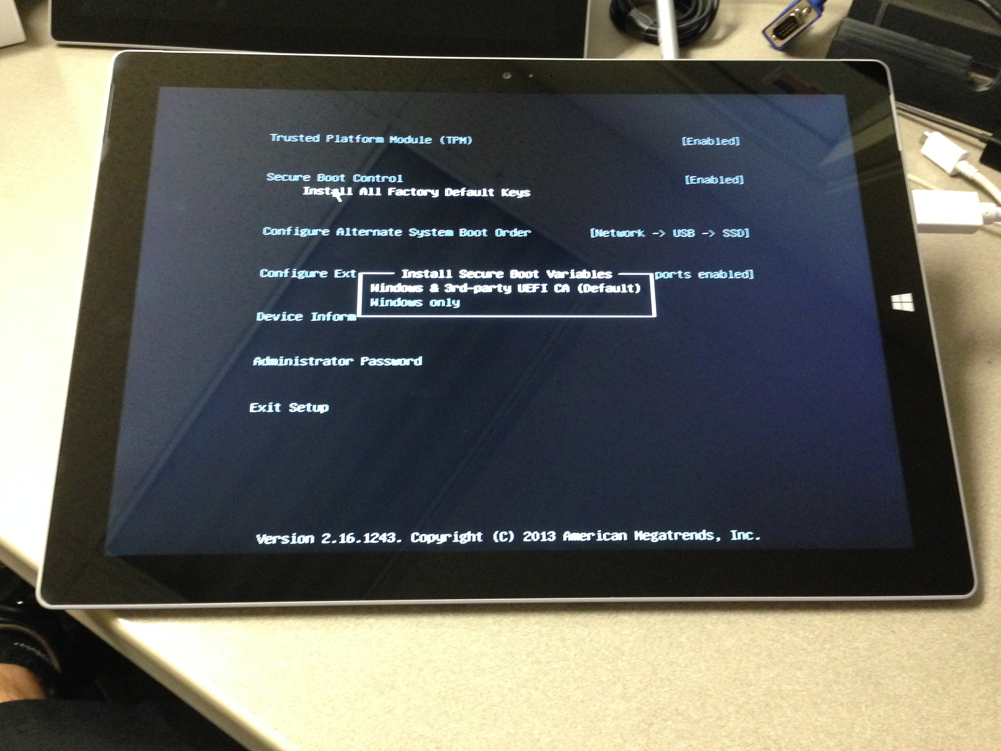 Surface Pro 3 – Red Boot Screen – The Bearded Geek